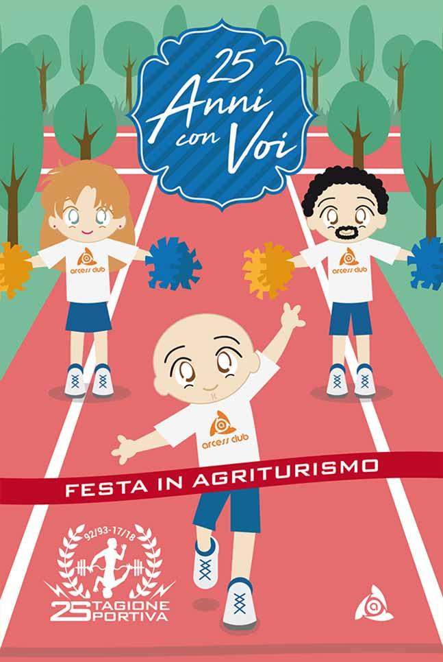 Poster Arcess Club, evento 25° anniversario, Palermo 2017