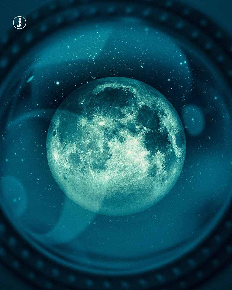 Fotomontaggio, Luna 1969-2019