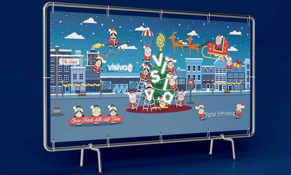 Banner Visiva Marketing Tools, allestimento natalizio, Palermo 2016