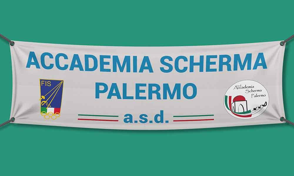 Banner per interni Accademia Scherma Palermo, Palermo 2016