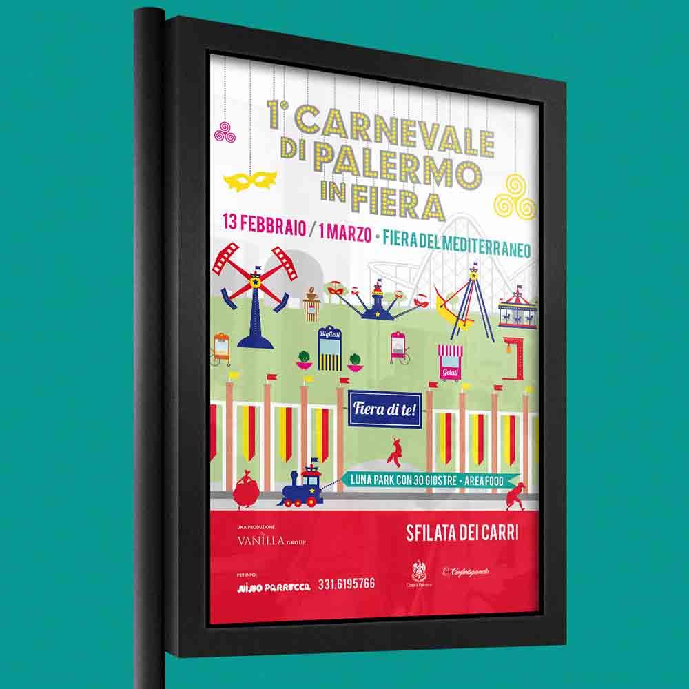 Billboard Carnevale di Palermo in Fiera, campagna multi soggetto 1° edizione, Palermo 2015