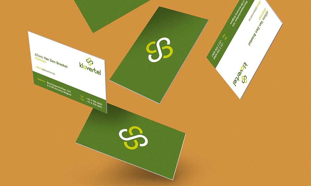 Biglietti da visita servizi telefonici Klavertel, Belgio 2015
