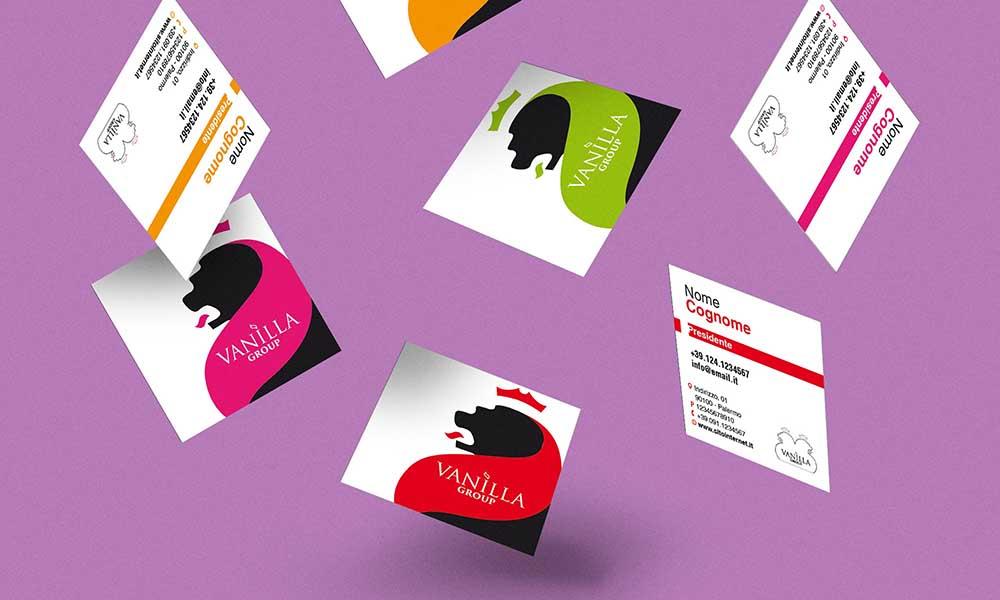 Biglietti da visita Vanilla Group, agenzia pubblicitaria, 2014