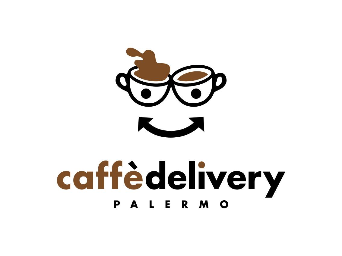 Logo Caffè Delivery, servizio di consegna cialde a domicilio, Palermo 2020