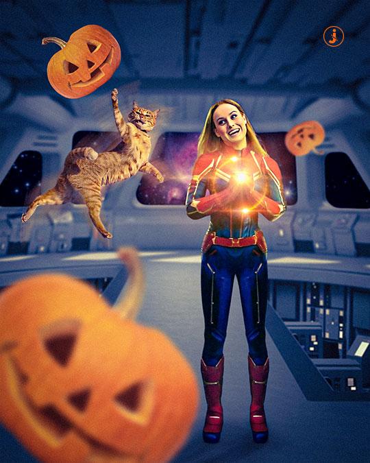 Fotomontaggio, Captain Halloween