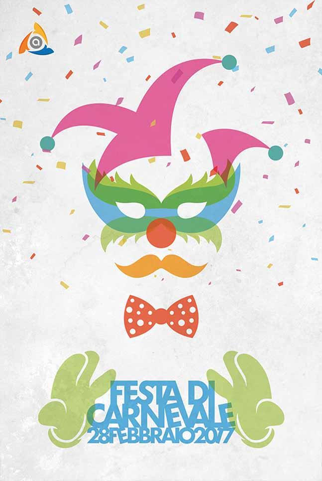 Poster Arcess Club, evento Festa di Carnevale, Palermo 2017