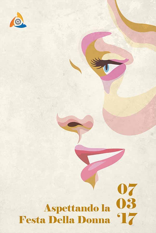 Poster Arcess Club, evento Festa della Donna, Palermo 2017