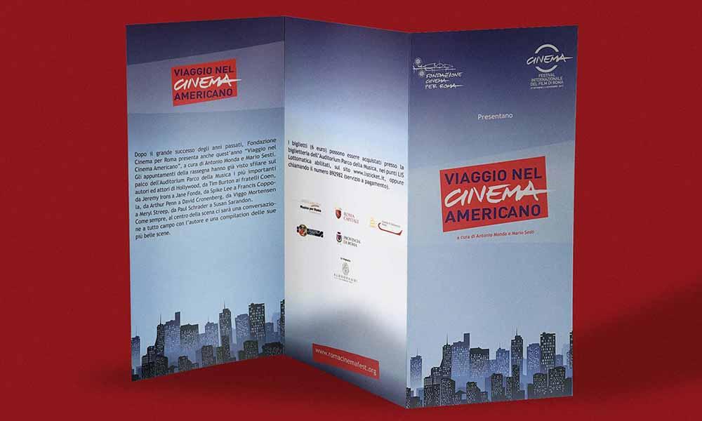 Leaflet Viaggio nel Cinema americano, Festival Internazionale del Film di Roma, Roma 2010