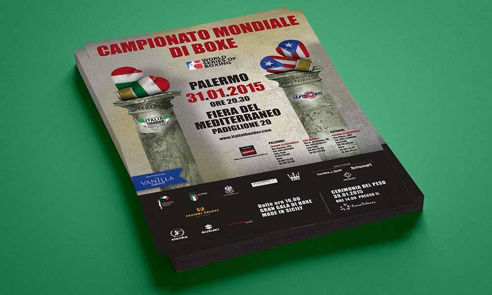 Volantino Campionato Mondiale di Boxe, Palermo 2015