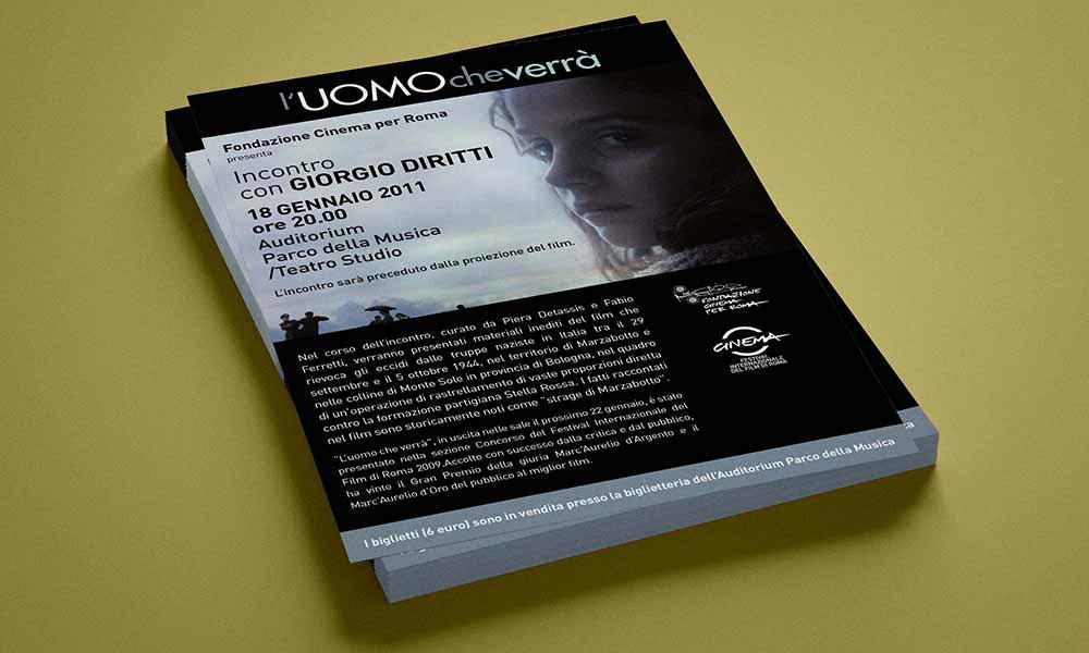 Volantino Incontri con i Registi, Festival Internazionale del Film di Roma, Roma 2011