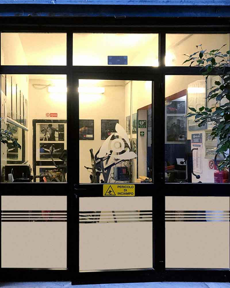 Decorazioni pellicole sabbiato Arcess Club, Palermo 2019