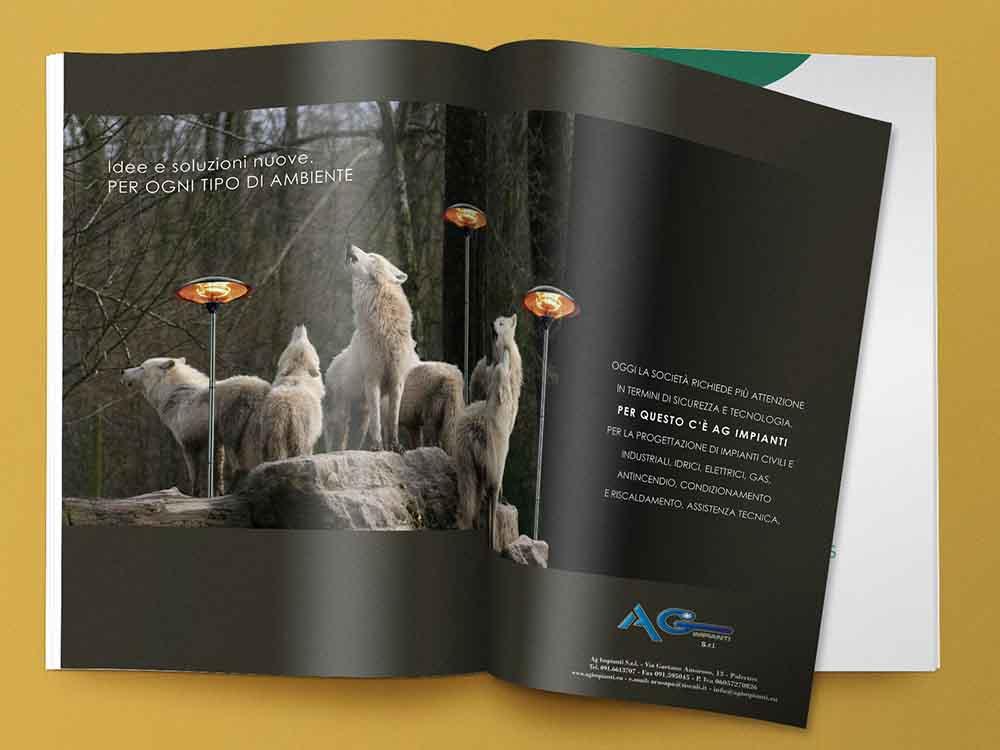 Doppia pagina pubblicitaria AG Impianti, Palermo 2012