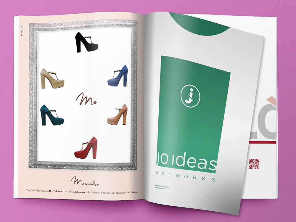 Pagina pubblicitaria Monnalisa calzature, Palermo 2012