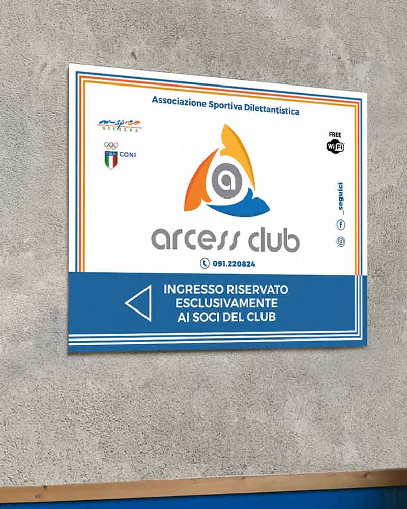Pannello stampa su Forex Arcess Club, Palermo 2019