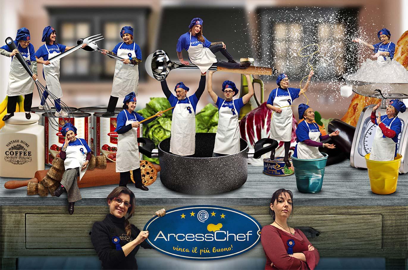 Poster Arcess Club, evento ArcessChef prima edizione, Palermo 2014