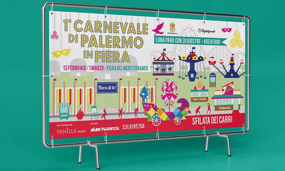 Banner Carnevale di Palermo in Fiera, Palermo 2015