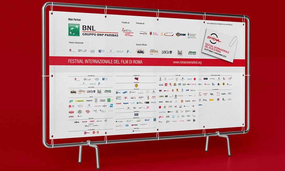 Banner per esterni Festival Internazionale del Film di Roma, Roma 2010