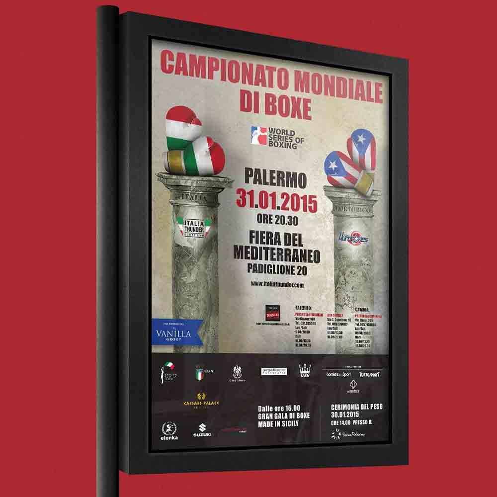 Billboard Campionato Mondiale di Boxe, Palermo 2015