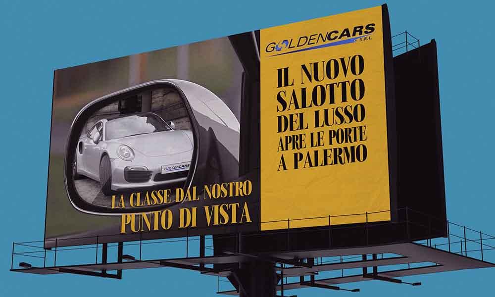 Billboard Golden Cars, campagna abbiamo stile da vendere, Palermo 2014