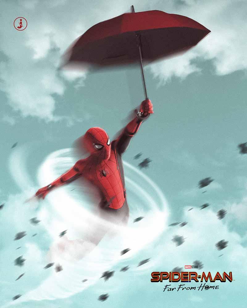 Fotomontaggio, Spider-Man aria