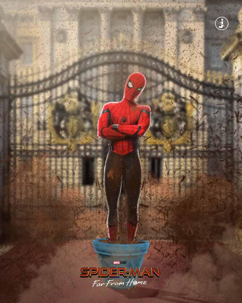 Fotomontaggio, Spider-Man terra