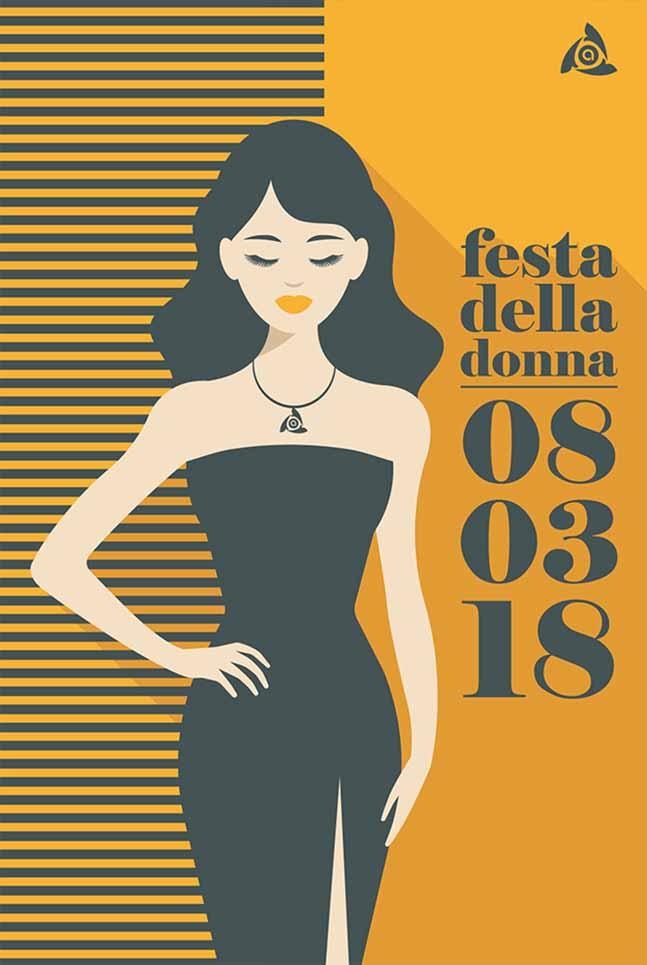 Poster Arcess Club, evento Festa della Donna, Palermo 2018