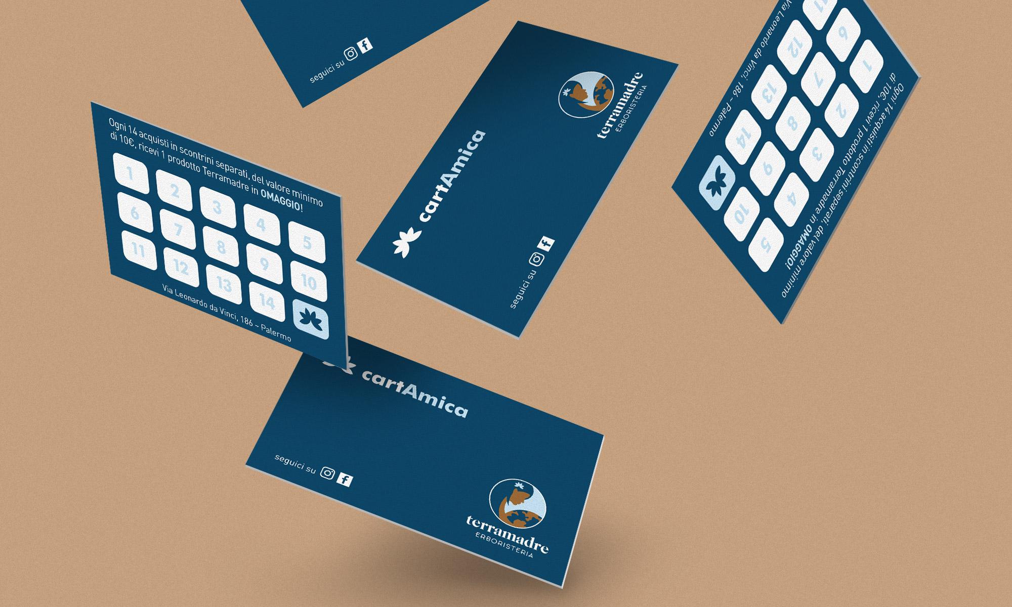 Fidelity card Erboristeria Terramadre, Palermo 2020