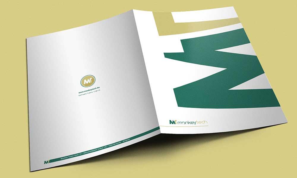 Cartella di presentazione Monkeytech, servizi informatici, Belgio 2015