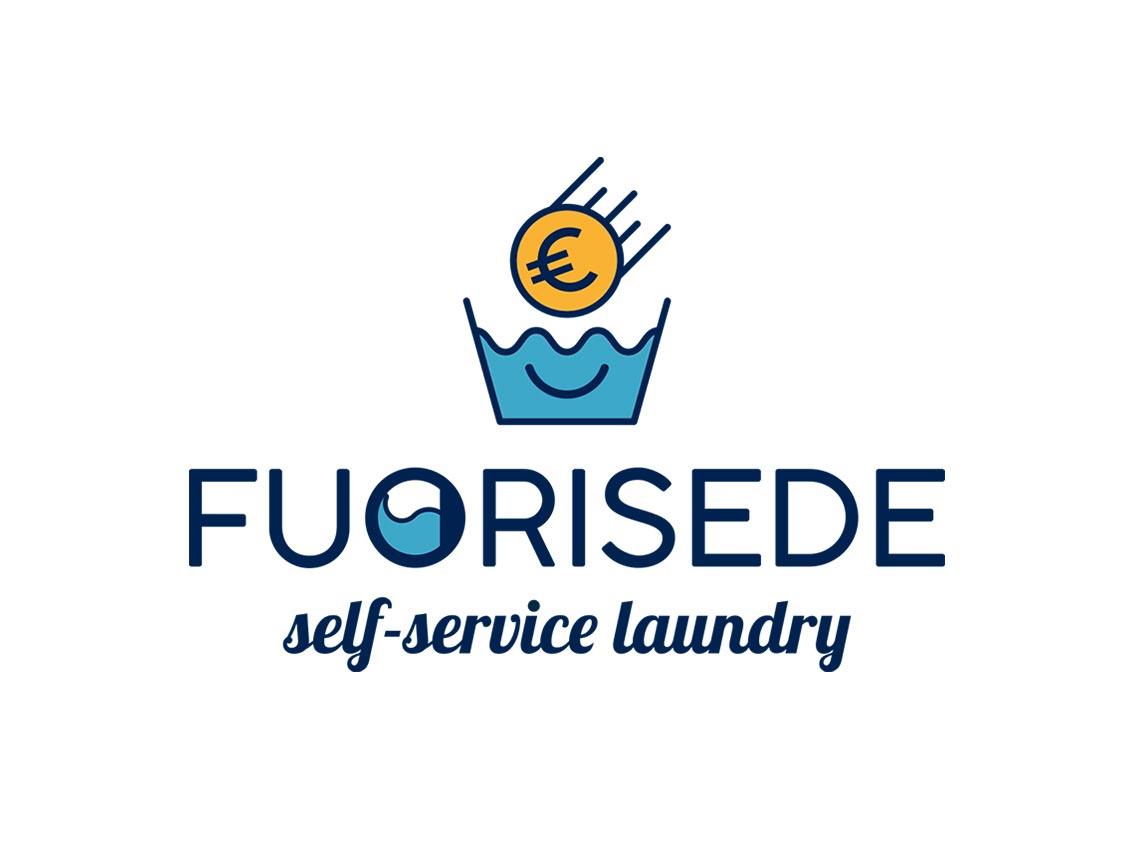 Logo Fuorisede Self-Service Laundry, lavanderia a gettoni, Palermo 2021