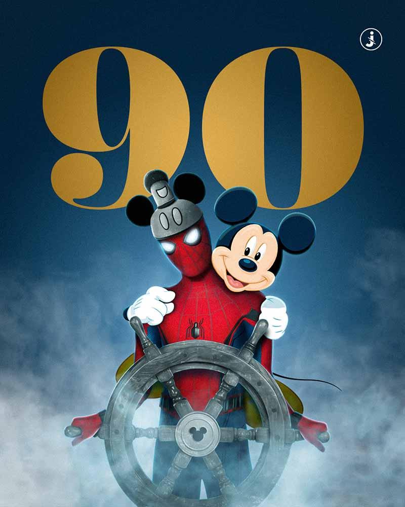 Fotomontaggio, Happy Birthday Mickey