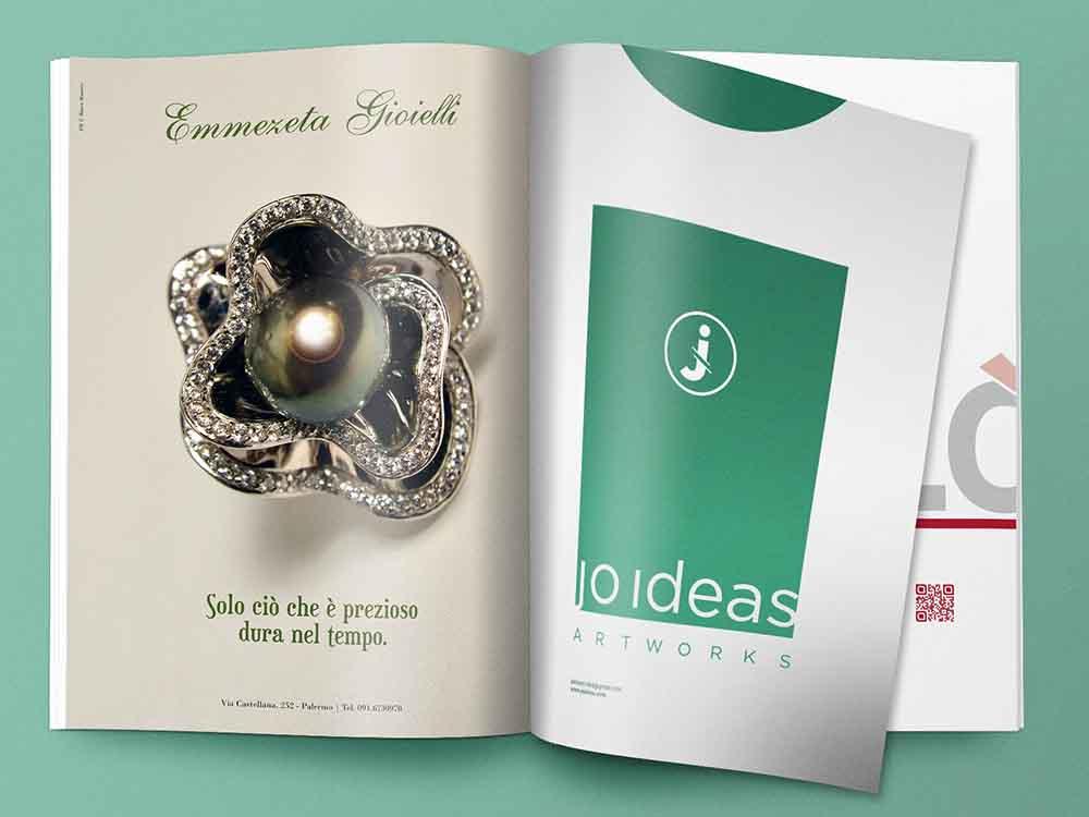 Pagina pubblicitaria Emmezeta gioielli, Palermo 2012