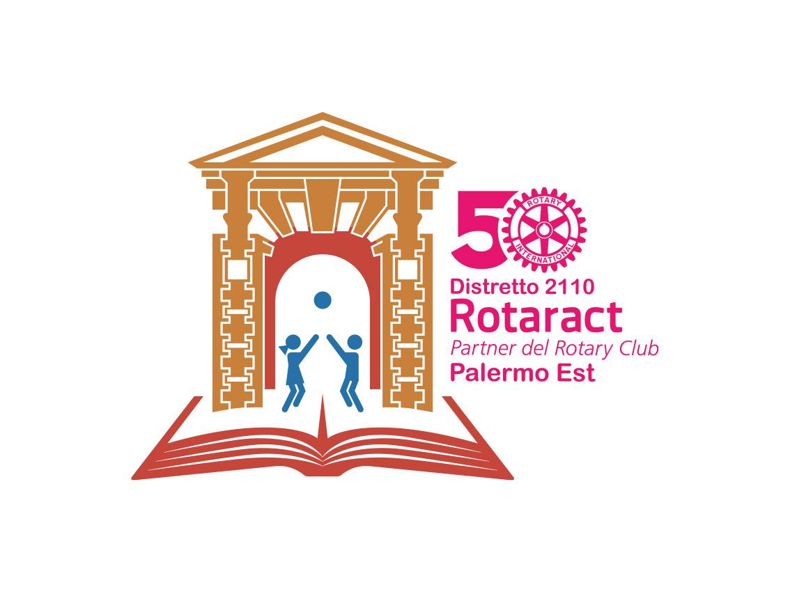 Logo progetto Rotaract, Distretto 2110, 50° anniversario, Palermo 2019