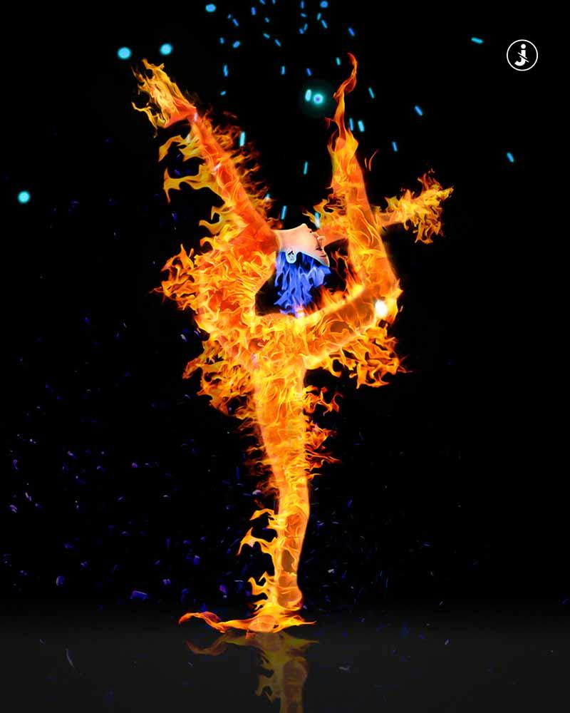 Fotomontaggio, Fire dance