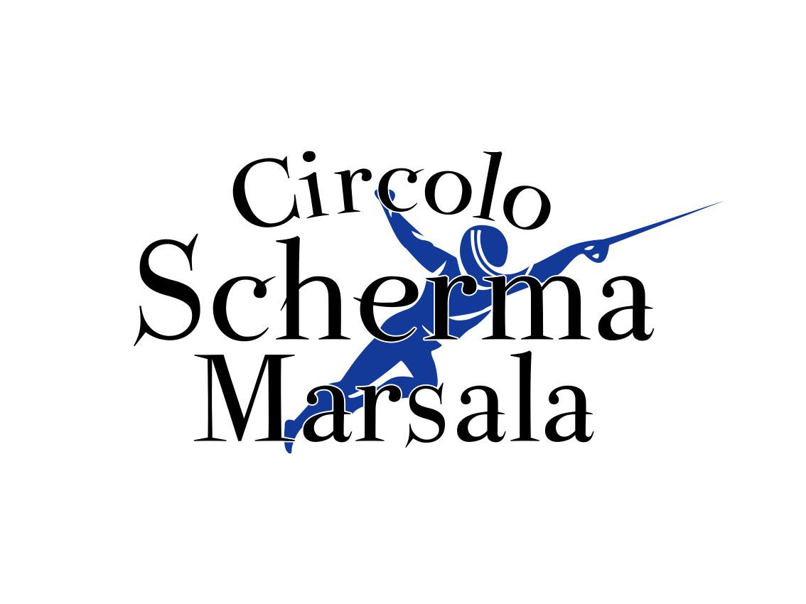 Logo Circolo Scherma Marsala, associazione sportiva, Marsala 2013