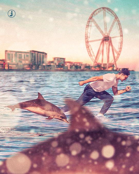 Fotomontaggio, Sea walk