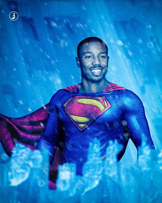 Fotomontaggio, The new Superman