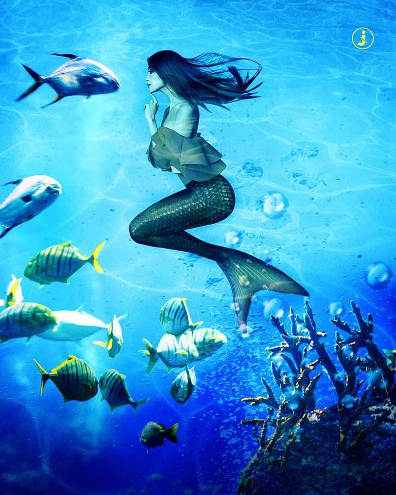 Fotomontaggio, Under the sea