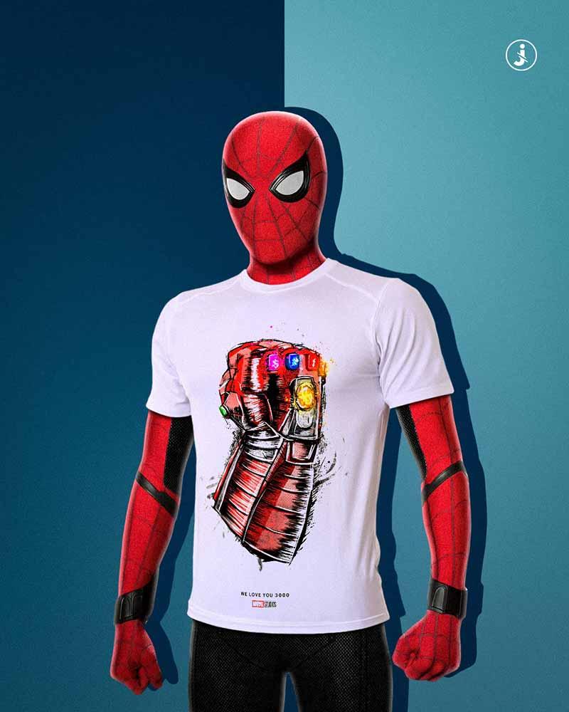 Fotomontaggio, Spider t-shirt