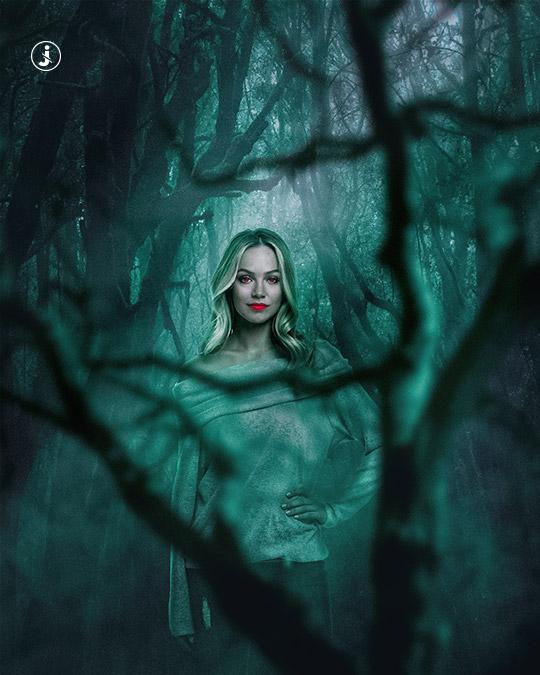 Fotomontaggio, Horror woods